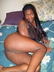Black mom naked at home