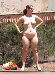 Hot Chubby MILF Outdoors naked