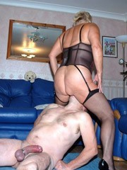 Mature femdom cock hungry granny