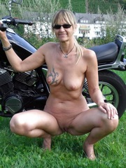 Elderly mature absolutely naked on a..