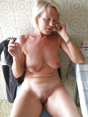 Hot mature wives naked at home