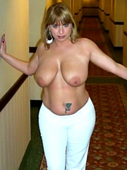 Passionate milf show her big natural..