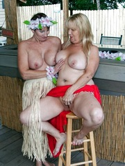 Funny naked girls lesbians frolic in..